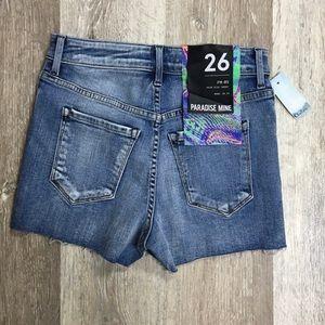 Aritzia Paradise Mine denim shorts, size 26.